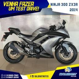 Ninja 300 Zx3R 2014 Cinza