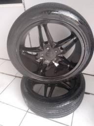 Vendo ou troco roda aro 20/245/45 multifuro 5