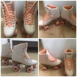 patins oxer rosa