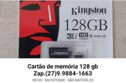 Cartão de memória Kingston 128