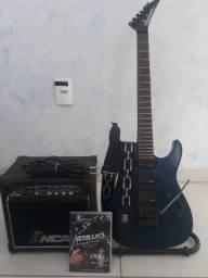 Guitarra Jackson japonesa com amplificador