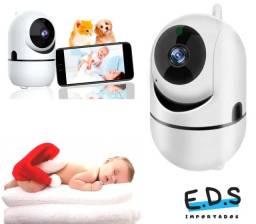 Câmera Robozinho 1 Antena Babá Eletrônica Monitoramento Doméstico