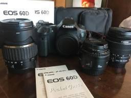DSLR Canon 60D + 2 Lentes