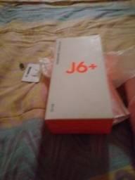 Troco celular j6+ completo na caixa 32 gigas