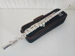 Flauta Transversal EAGLE Banhada a PRATA