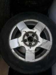 Roda avulsa golf sapao com pneu aro 15