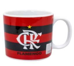 Caneca Porcelana Flamengo Oficial com o brasão do clube, 320 ml