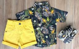Conjunto short e camisa