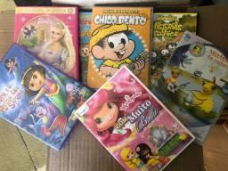 DVDs diversos infantis - R$ 3,00 cada