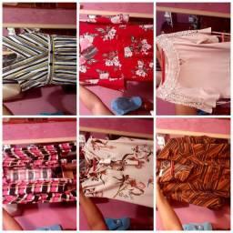 6 peças de roupa
