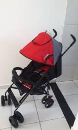 Carrinho de passeio bebê modelo guarda chuva - Infanti Spin Neo Vermelho