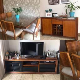 Mesa 8 cadeiras + Buffet + rack