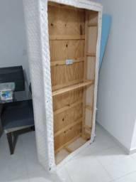 Cama Box, base e colchão