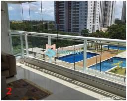 Título do anúncio: Maravilhoso Apartamento Nascente 4/4, sendo 3 suítes em condomínio fechado - Patamares - S