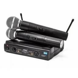 Microfone duplo sem fio lelong