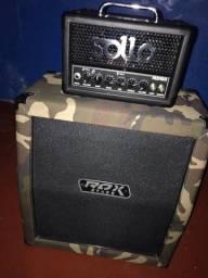Combo: Amplificador Sollo mini 8 + caixa 1x12 Rox Stage.