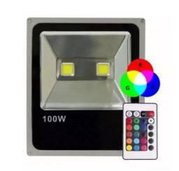 Título do anúncio: Refletor LED - Holofote - RGB com Controle | 100W