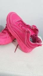 Tênis rosa número 38