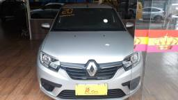 Título do anúncio: Renault Logan zen 1.0 completo prata 4 portas 2020 Flex/GNV manual