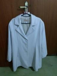 Casaco de lã batida branco