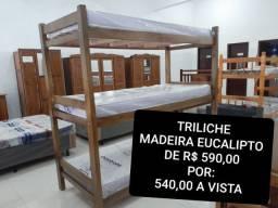 TRILICHE NOVA EM MADEIRA  EUCALIPTO