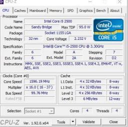 Kit pc Placa mae ecs h6 1h2m2 ddr3 segunda e terceira geração .+ processador i5 2500