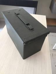 Caixa de metal /ferramentas/pesca/ultilidades domésticas