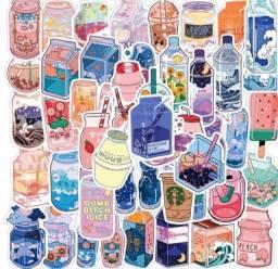 Título do anúncio: 40 Stickers Adesivo de Bebidinhas Tumblr