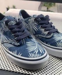 tênis vans azul tropical tam 35/36