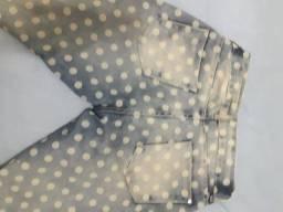 Calça jeans poá TNG