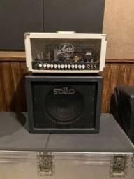 Amplificador Aura Diamond Valvulado + caixa 1x12 Sollo