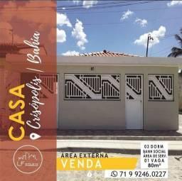 Casa à Venda| Crisópolis-Ba