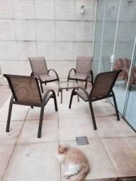 Título do anúncio: Cadeiras para área externa e mesa de alumínio