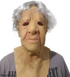 Máscara Realista p/ Teatro / Cosplay - Vovó / Senhora de idade - Nova, sem qualquer uso!