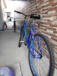 Bike azul aro 26 praticamente nova