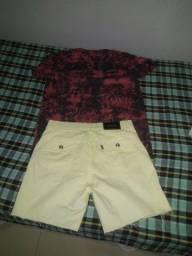 Conjunto camiseta M e bermuda M
