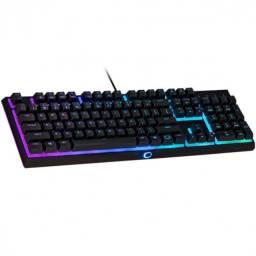 Título do anúncio: teclado gamer semi mecanico mk110 iluminacao rgb