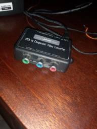 Conversor  vga  para  vídeo  componente  pc  na  tv de  tubo