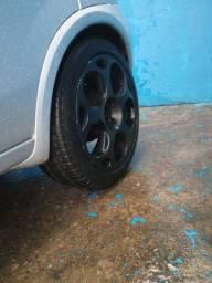 Troco rodas 17 Lamborghini pneus dois Bom e dois meia medidas 215/50/17 e  205/45/17
