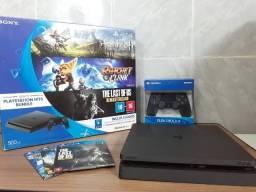 Console Playstation 4 Slim 500GB Hits Bundle (Usado) + Controle Novo + Jogos