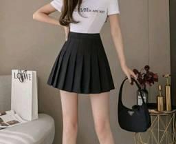 Título do anúncio: Saia colegial preta com shorts