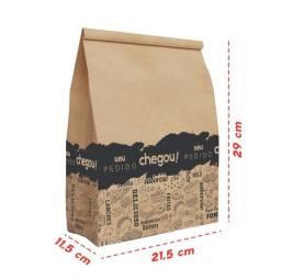 Saco kraft p/ Fast Food e Delivery