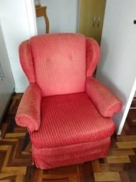 Poltrona vermelha retro
