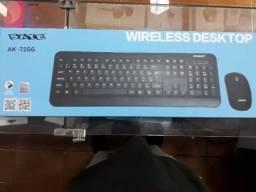 teclado e mouse sem fio sate