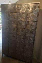 Armário Vestiário Roupeiro De Aço Lixado - Guarda Volume