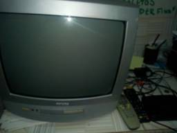 Tv 14 completa, funcionando normal, sem a antena de cima da casa