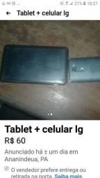 Tablet + celular lg