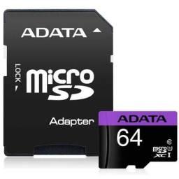 Cartão Memória Micro Sd Adata 64gb - Ausdx64guicl10-ra1 Class 10