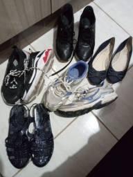 Calçados e roupas