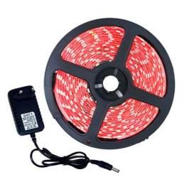 Fita Led 5050 Vermelha Rolo C/ 5m 60 Leds/m C/ Fonte 3a